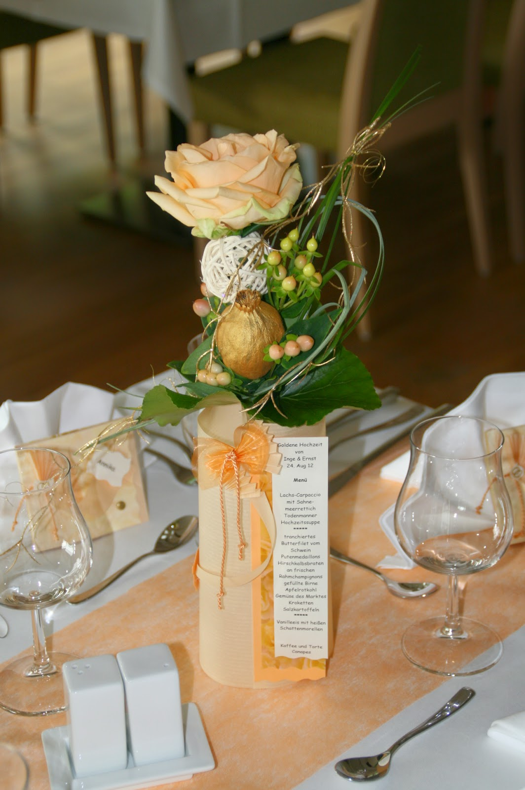 Tischschmuck Goldene Hochzeit Tischdeko Goldene Hochzeit Ideen