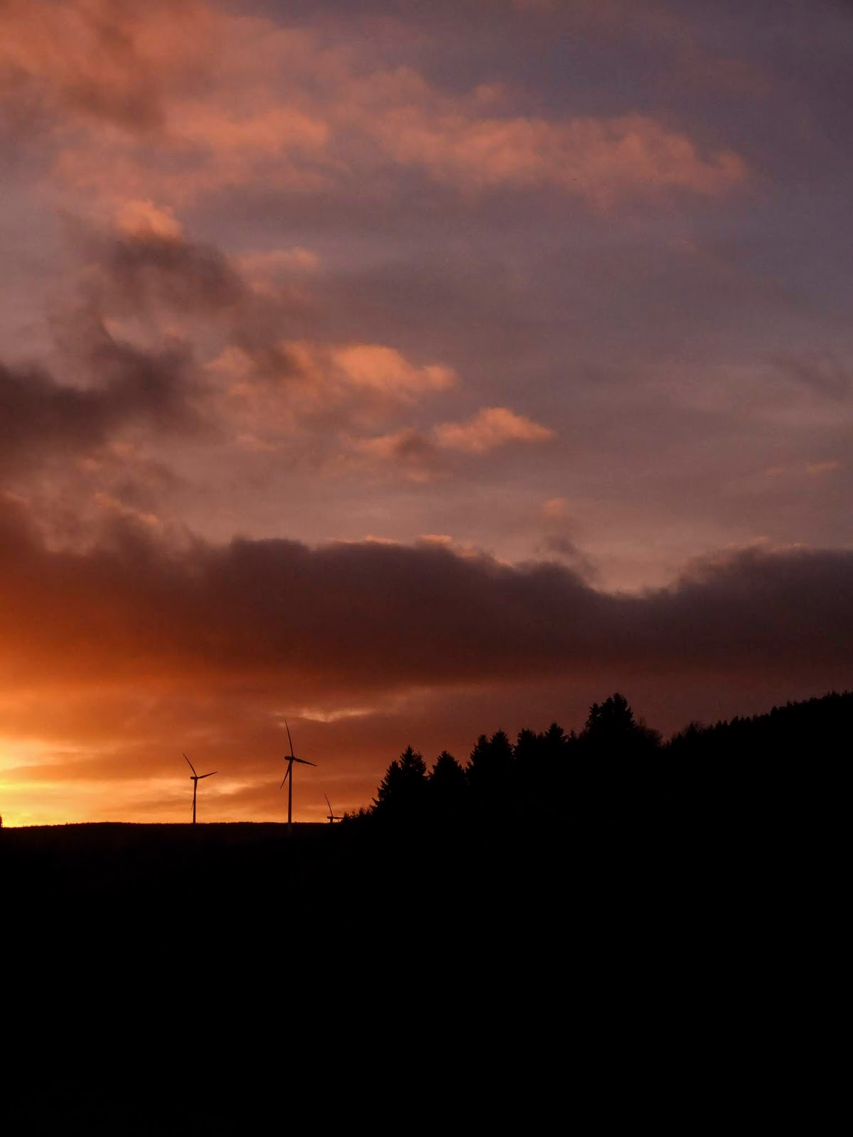 A sunset captured on a hillside in the Boggeragh Mountains in North County Cork.