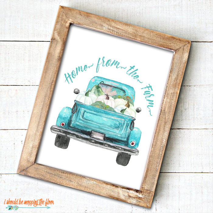 Farmhouse Pumpkin Patch Sign with Vintage Truck
