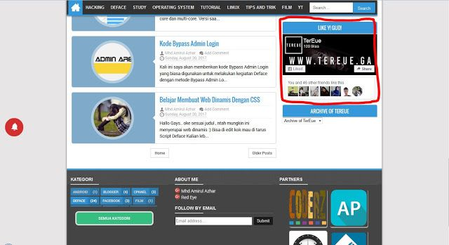 Cara Membuat Widget Fanpage Facebook Blog di Blogger