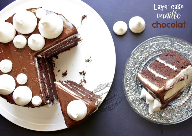 Gateau vanille au chocolat