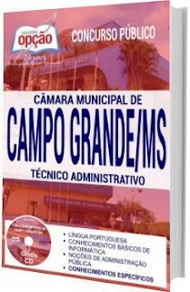 Apostila Câmara de Campo Grande 2017 - Técnico Administrativo
