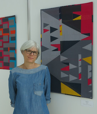 art-tex exhibition at Nadelwelt Karlsruhe 2018 - improv quilts by Sophie Zaugg