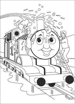 Gambar Mewarnai Thomas and Friends - 7