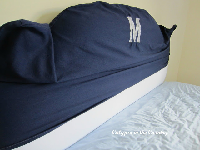 Slipcovered Headboard  - Calypso in the Country Blog