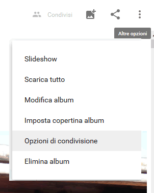Come condividere un album su google foto