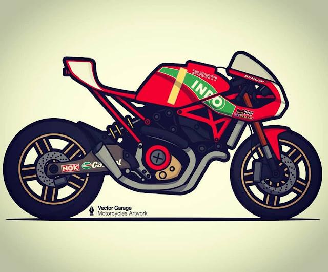 Vector Garage Motorcycle Artwork