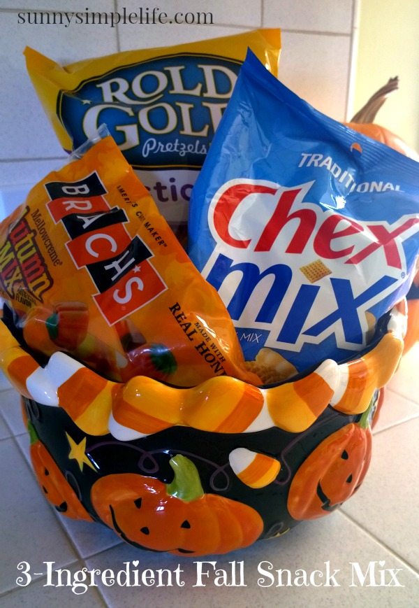 Chex mix, pretzels, Halloween, Brach's autumn mix