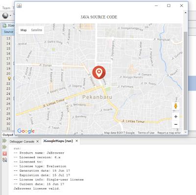Cara Menggunakan Google Maps Ke Dalam Java Swing 8