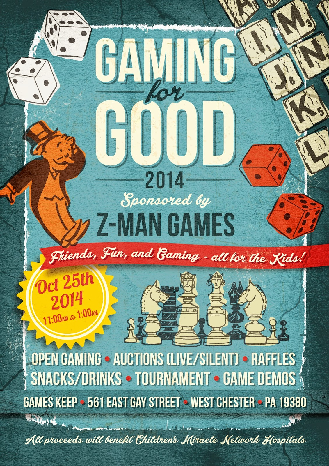 Extra Life Charity Event Announcement - Gaming for Good 2014
