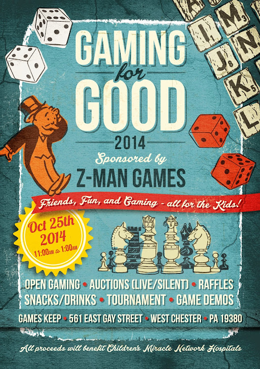 Extra Life Charity Event Announcement - Gaming for Good 2014: Sponsored by Z-Man Games