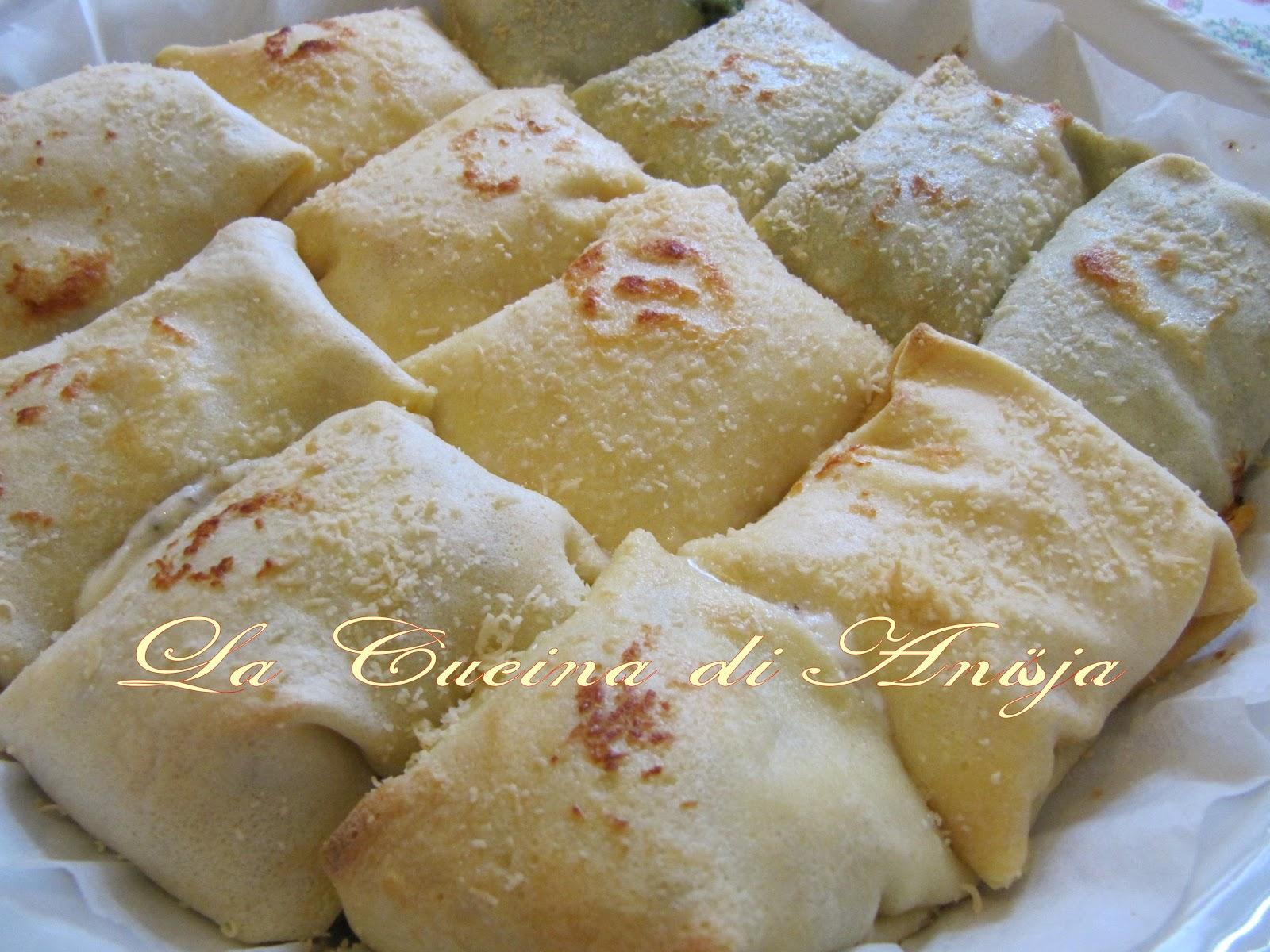 La cucina di anisja fagottini di crespelle al forno for Primi piatti leggeri