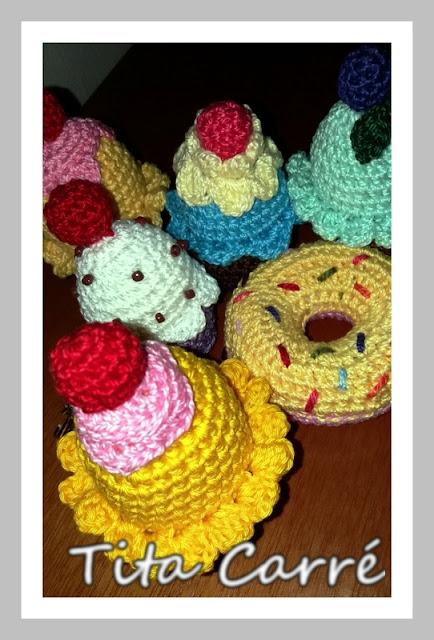Cupcake e Donut em crochet