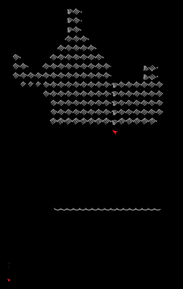 74495862ba Continue acompanhando o gráfico e vire a peça antes de começar cada carr da  parte superior do vestido. Quando fizer a 2ª parte do vestido