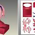 Papercraft Sakura do anime naruto Busto 25cm
