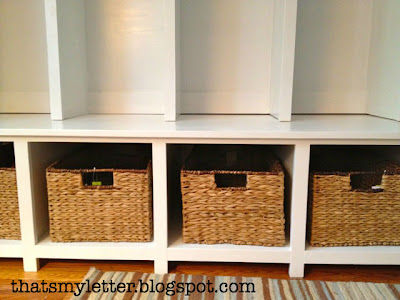 diy mudroom bench with basket storage