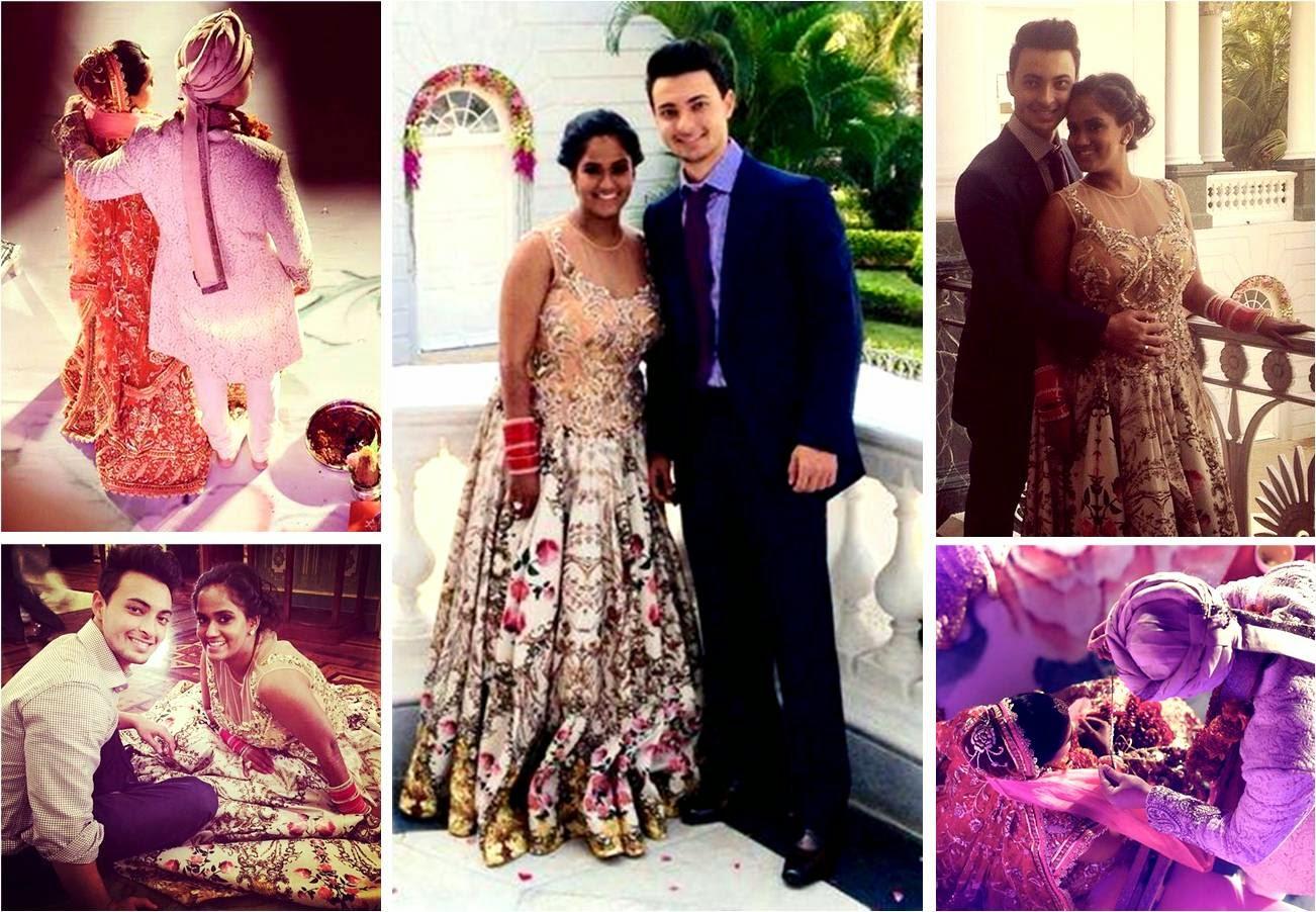 Salman Khan's Sister Arpita Khan and Ayush Sharma's Wedding Pics