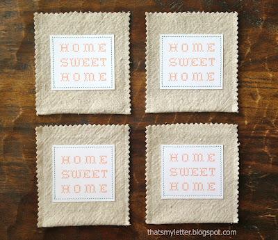 diy drop cloth pocket with sewn label