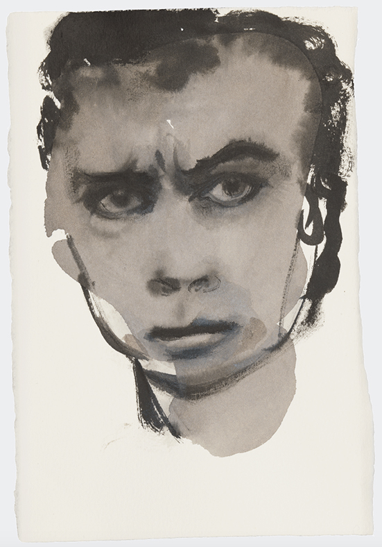 drawing Marlene Dumas Adonis frowns, 2015-2016