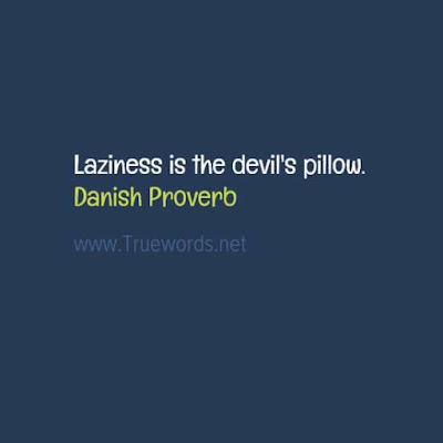 Laziness is the devil's pillow