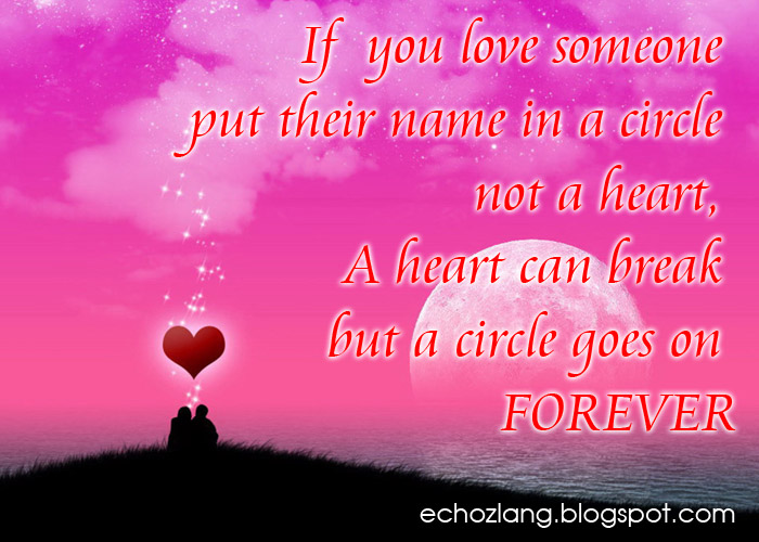 If you love someone put their name in a circle not a heart. A ...