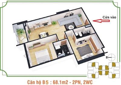 Mặt bằng căn hộ B5