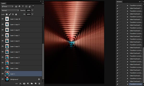 How To Record Droste Effect Action in Photoshop
