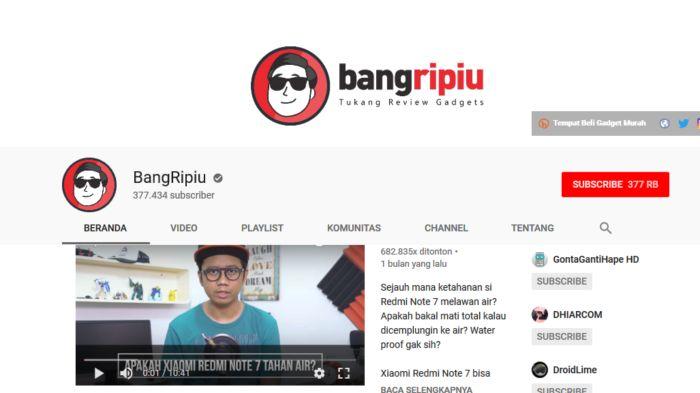 BangRipiu - Youtuber