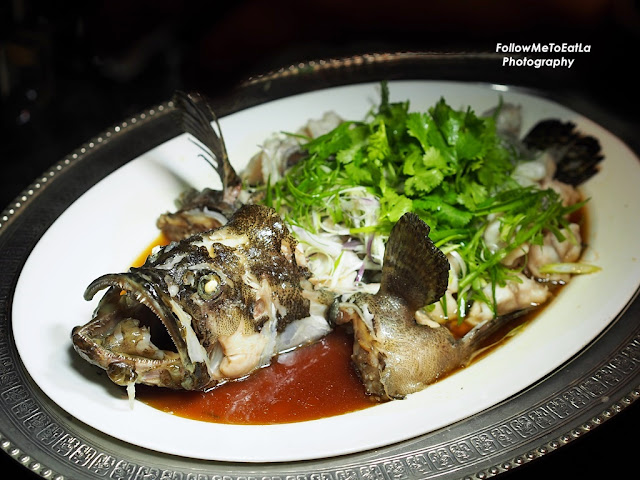 Signature Ombak Style Tiger Grouper, Steamed With Soy Sauce