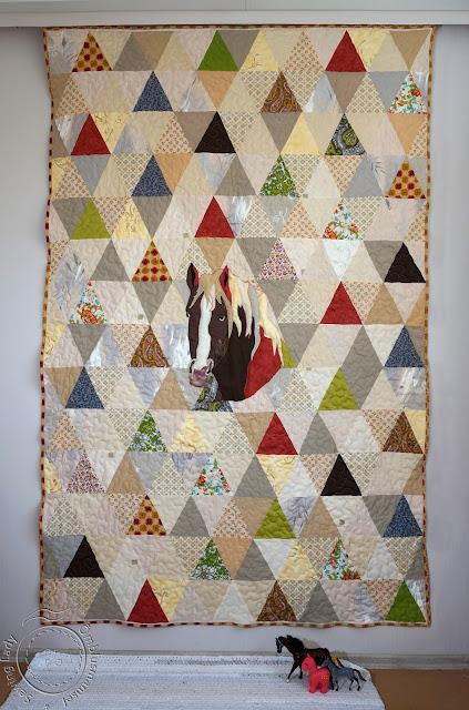 horse quilt,