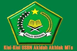 Download Kisi-Kisi USBN Akidah Akhlak MTs Tahun 2019