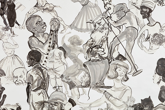 Kara Walker  Christ's Entry into Journalism, 2017 (detail) Sumi ink and collage on paper 355.6 x 497.8 cm