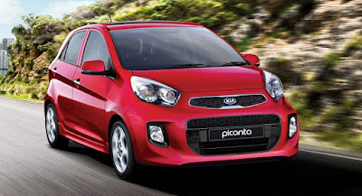KIA Picanto in road  image
