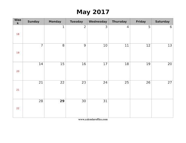 May 2017 Calendar, Calendar May 2017, 2017 May Calendar, May 2017 Printable Calendar