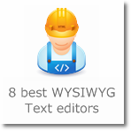 8 best WYSIWYG Text editors/Web based HTML Editors