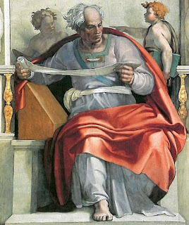 Nomes bíblicos de menino: letra V (Imagem: O Profeta Joel - Michelangelo)