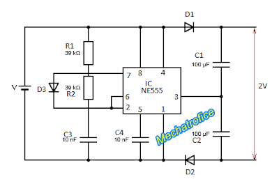 Voltage Doubler Circuit schematic