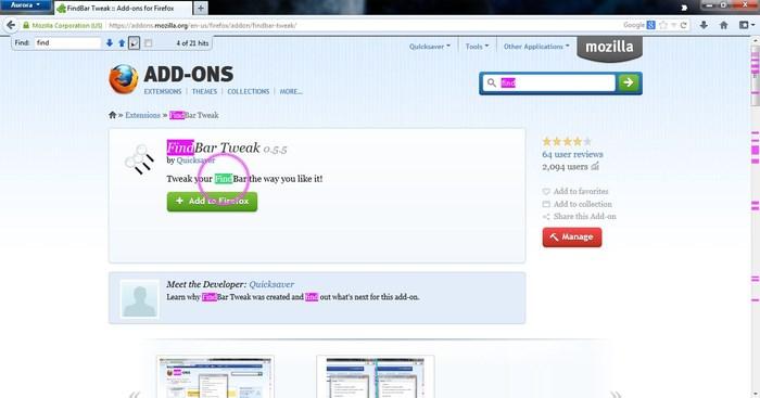 شرح إضافة FindBar Tweak لتجد كل ما تبحث عنه بسهولة