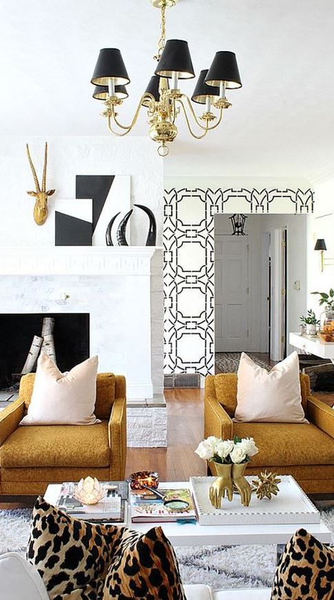 trendy glam interior design idea