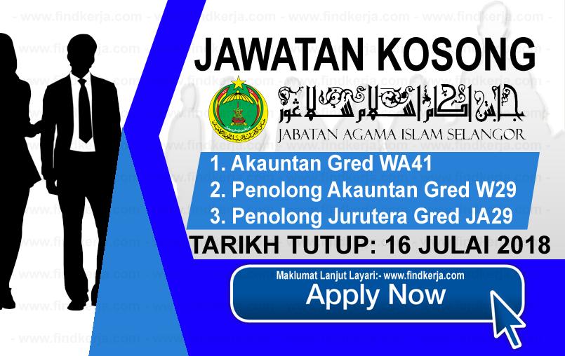 Jawatan Kerja Kosong JAIS - Jabatan Agama Islam Selangor logo www.ohjob.info www.findkerja.com julai 2018