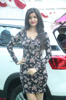 Kritika Telugu cinema Model in Short Flower Print Dress 064.JPG