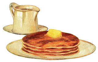 pancake breakfast image antique illustration digital download
