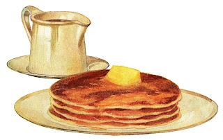 pancake breakfast image antique illustration digital download
