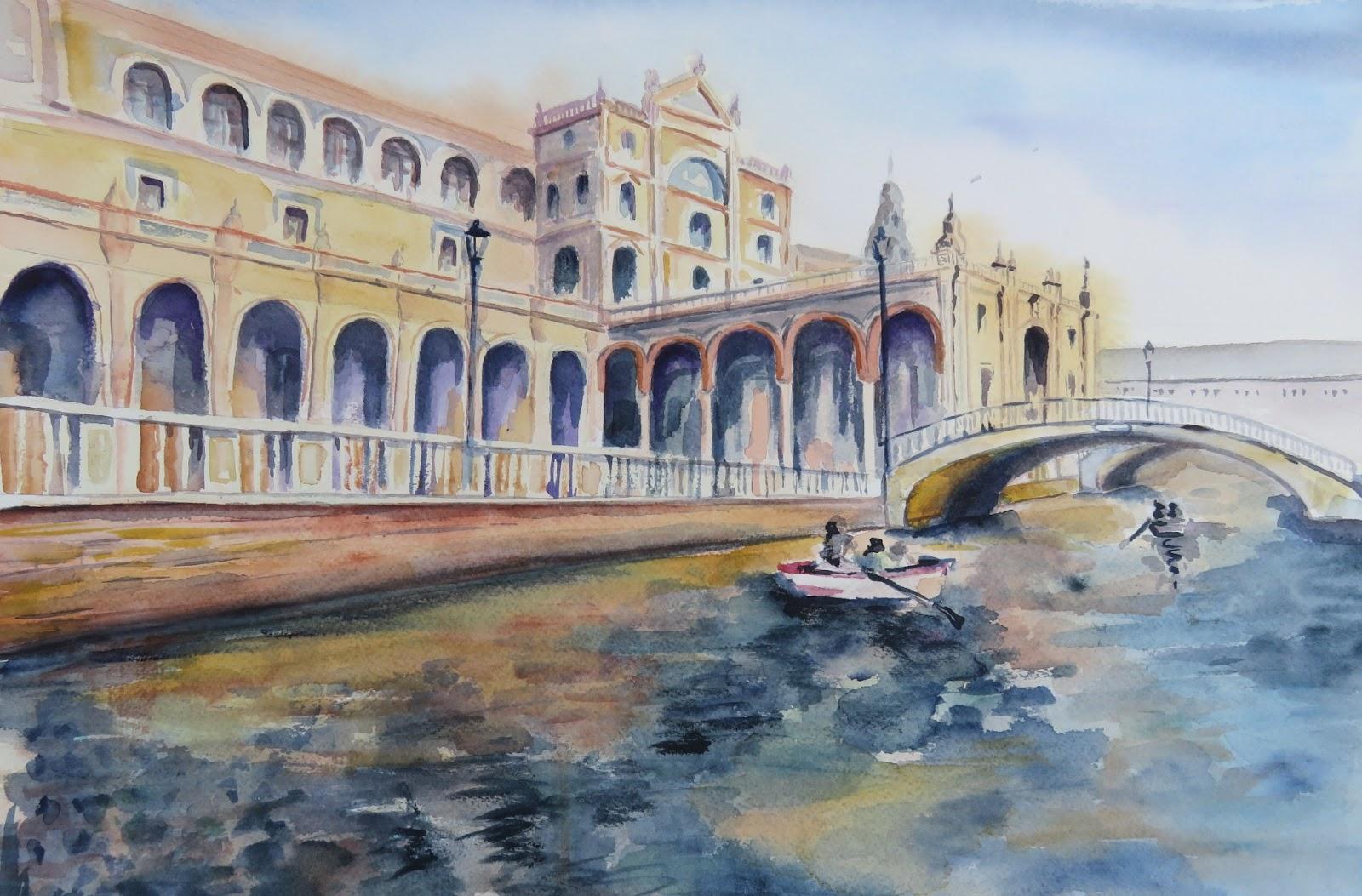 Pinturas de sousa plaza de espa a sevilla for Todo pintura sevilla