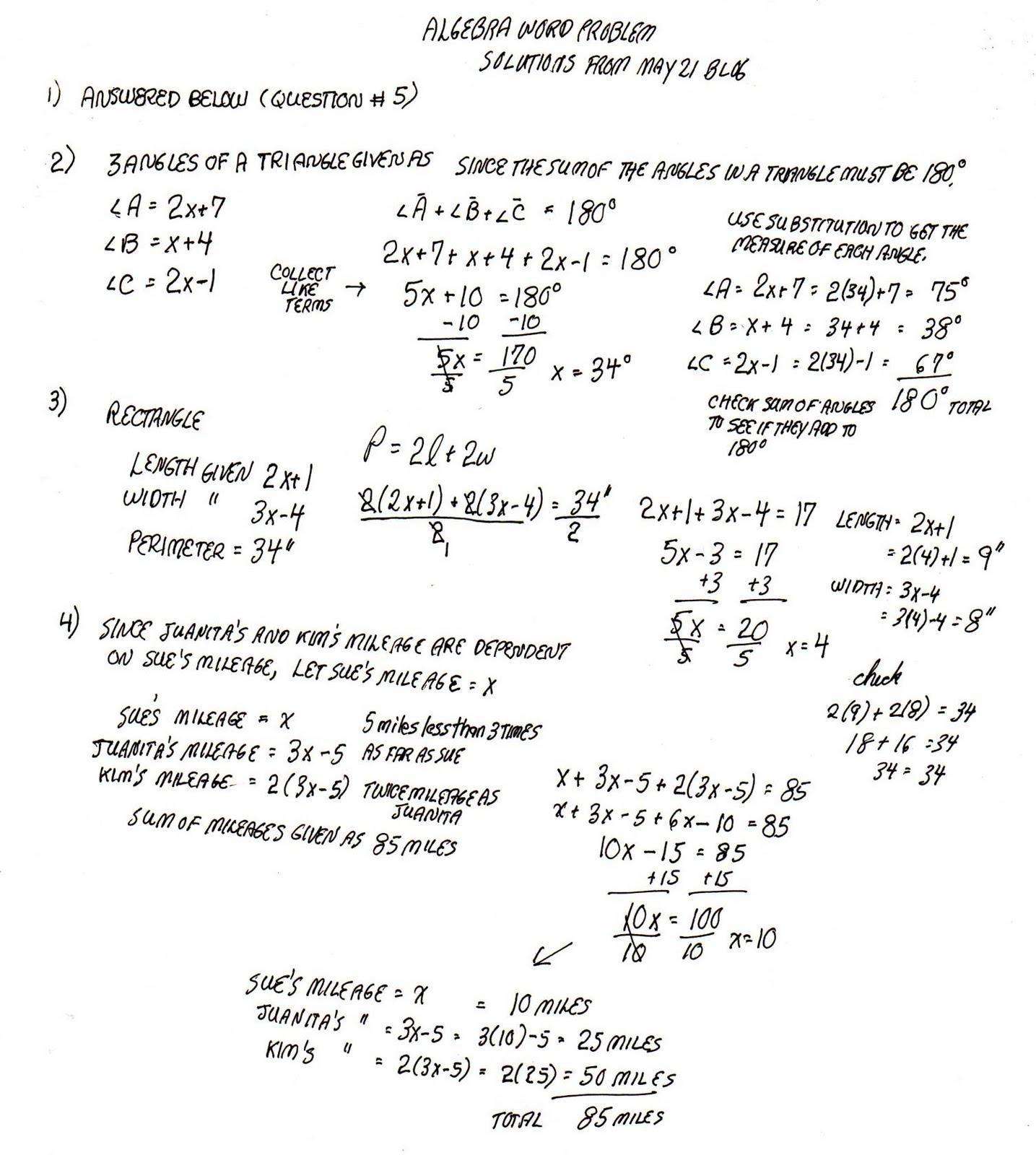 Algebra Homework Help Free Algebra 1 Homework Help