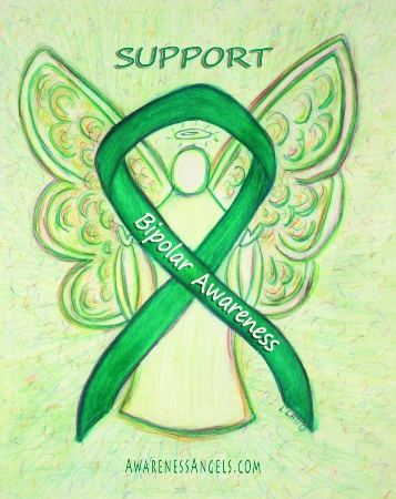 Bipolar Guardian Angel Awareness Ribbon Image Picture