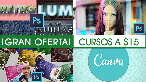 Cursos de Photoshop y Canva con rebajas hasta el 20 de Abril