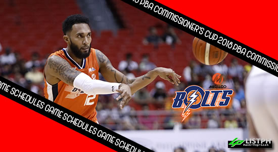 Meralco Bolts Game Schedules list 2018 PBA Commissioner's Cup