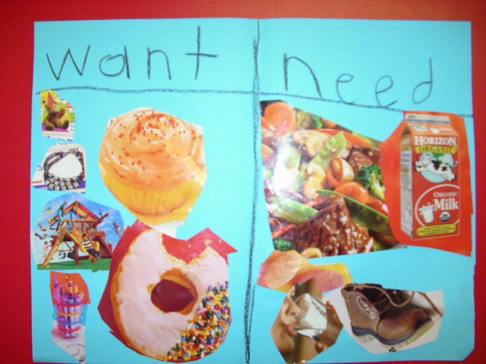 Oh The Things Kinders Think Wants And Needs Collages