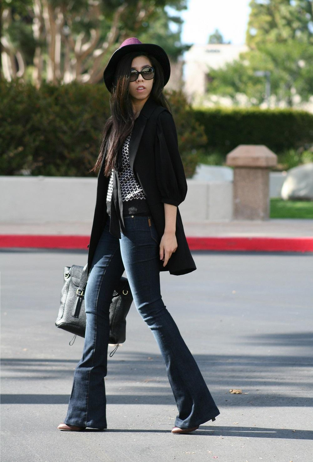 What to Wear with A Sweater Vest and What to Wear with A Sleeveless Duster Coat - Adrienne Nguyen